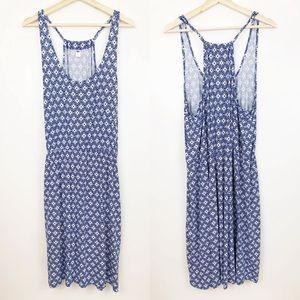 Old Navy Blue & White Blouson Dress